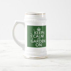 Stein with Keep Calm and Garden On design