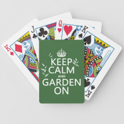 Playing Cards with Keep Calm and Garden On design