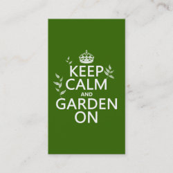with Keep Calm and Garden On design