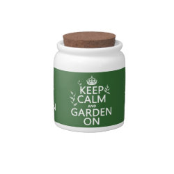 Candy Jar with Keep Calm and Garden On design
