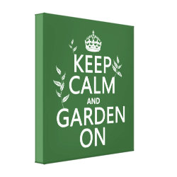 Premium Wrapped Canvas with Keep Calm and Garden On design