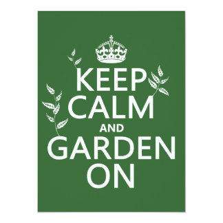 Keep Calm and Garden On - All Colors Card