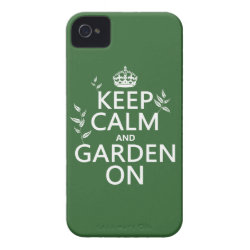Case-Mate iPhone 4 Barely There Universal Case with Keep Calm and Garden On design