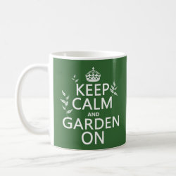 Classic White Mug with Keep Calm and Garden On design