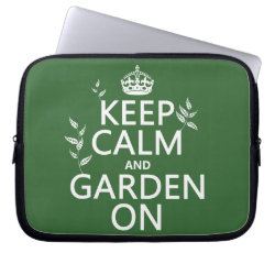 Neoprene Laptop Sleeve 10 inch with Keep Calm and Garden On design