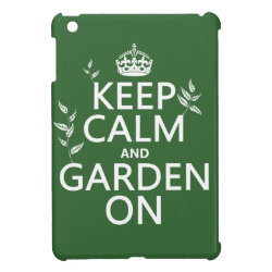 Case Savvy iPad Mini Glossy Finish Case with Keep Calm and Garden On design