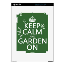 Amazon Kindle DX Skin with Keep Calm and Garden On design