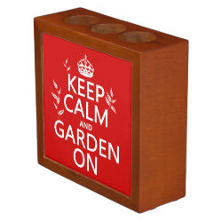 Desk Organizer with Keep Calm and Garden On design