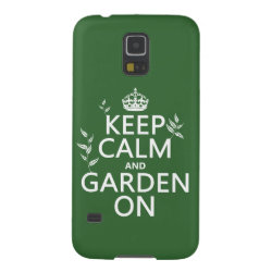 Case-Mate Barely There Samsung Galaxy S5 Case with Keep Calm and Garden On design