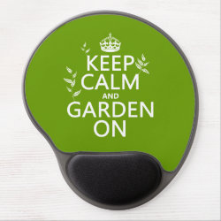 Gel Mousepad with Keep Calm and Garden On design