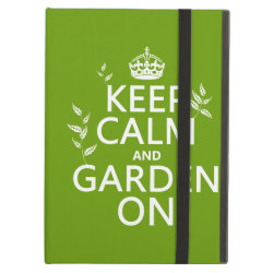 iPad Air Powis Case with Keep Calm and Garden On design
