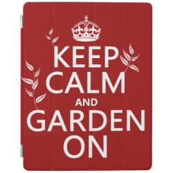 iPad 2/3/4 Cover with Keep Calm and Garden On design