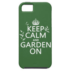 Case-Mate Vibe iPhone 5 Case with Keep Calm and Garden On design
