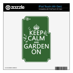 iPod Classic (80/120/160GB) Skin with Keep Calm and Garden On design