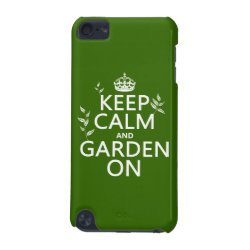 Case-Mate Barely There 5th Generation iPod Touch Case with Keep Calm and Garden On design