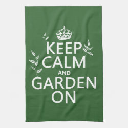 Kitchen Towel 16' x 24' with Keep Calm and Garden On design