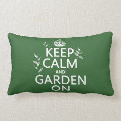 Throw Pillow Lumbar 13' x 21' with Keep Calm and Garden On design