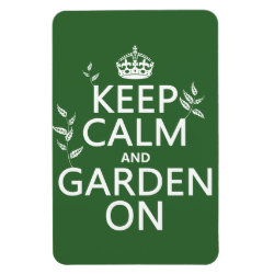 4'x6' Photo Magnet with Keep Calm and Garden On design