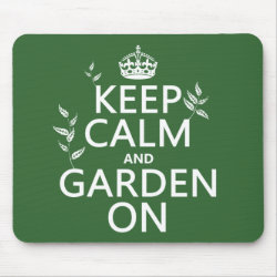 Mousepad with Keep Calm and Garden On design