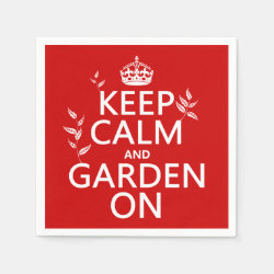 Paper Napkins with Keep Calm and Garden On design