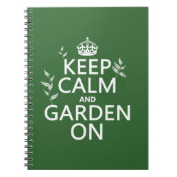 Photo Notebook (6.5' x 8.75', 80 Pages B&W) with Keep Calm and Garden On design