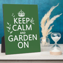 Photo Plaque 8' x 10' with Easel with Keep Calm and Garden On design