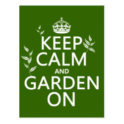 Postcard with Keep Calm and Garden On design