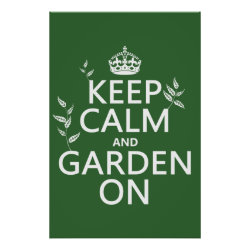Matte Poster with Keep Calm and Garden On design