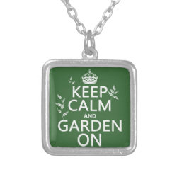 Small Necklace with Keep Calm and Garden On design