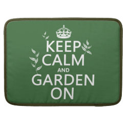 Macbook Pro 15' Flap Sleeve with Keep Calm and Garden On design