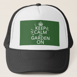 Trucker Hat with Keep Calm and Garden On design
