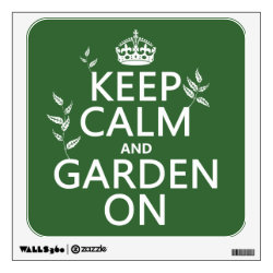 Walls 360 Custom Wall Decal with Keep Calm and Garden On design