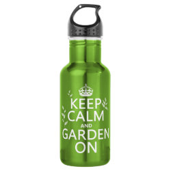 Water Bottle (24 oz) with Keep Calm and Garden On design
