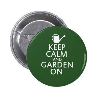 Keep Calm and Garden On Button