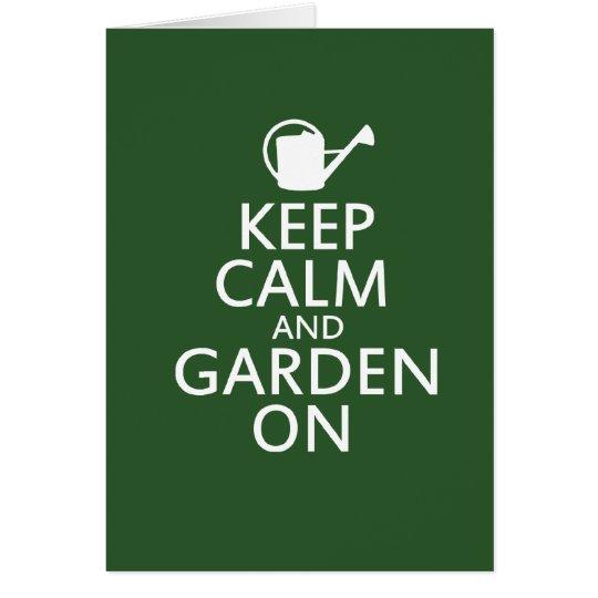 Keep Calm and Garden On Card
