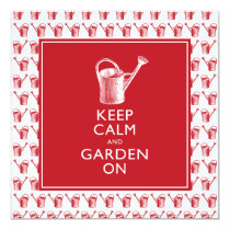 Keep Calm and Garden On Funny British Gardener Card