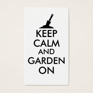 Keep Calm and Garden On Gardening Trowel Custom Business Card