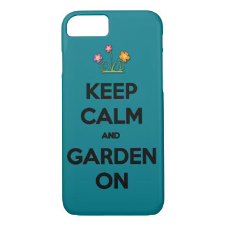 Keep Calm and garden on outside joke funny cool sa iPhone 8/7 Case