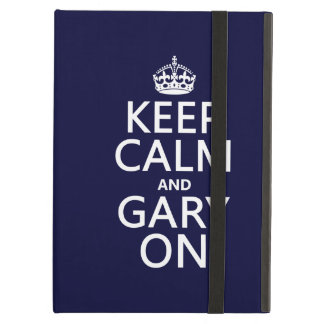 Keep Calm and Gary On any background color iPad Covers