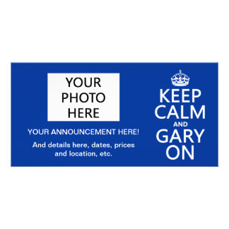 Keep Calm and Gary On (any color) Card