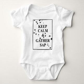 Keep Calm and Gather Sap 2 Baby Bodysuit