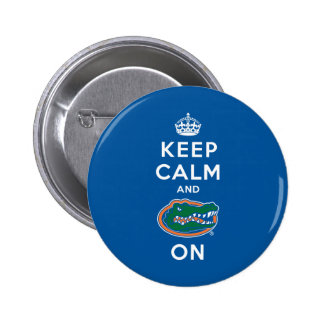 Keep Calm and Gator On - Blue 2 Inch Round Button
