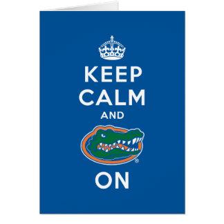 Keep Calm and Gator On - Blue Greeting Card