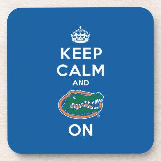 Keep Calm and Gator On - Blue Beverage Coaster