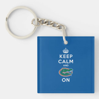 Keep Calm and Gator On - Blue Key Chain