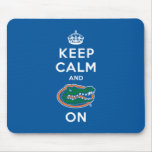 Keep Calm and Gator On - Blue Mouse Pad