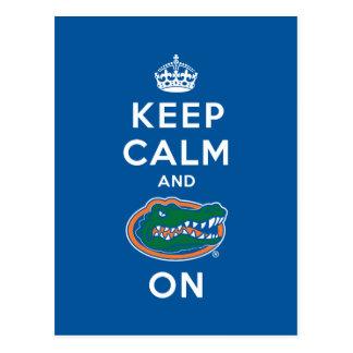 Keep Calm and Gator On - Blue Postcard
