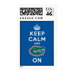Keep Calm and Gator On - Blue Stamp