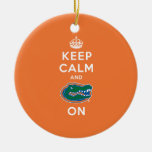 Keep Calm and Gator On Ceramic Ornament