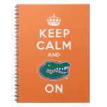 Keep Calm and Gator On Notebook